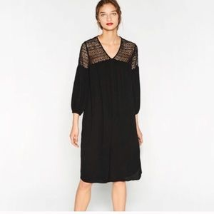 Anthropologie Dress XL Midi Black Dress NWT